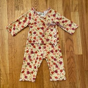 Baby Nay Fall Floral Cotton Kimono Set 12m Yellow